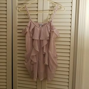 Express Light Pink Rufle Camisole Sz M